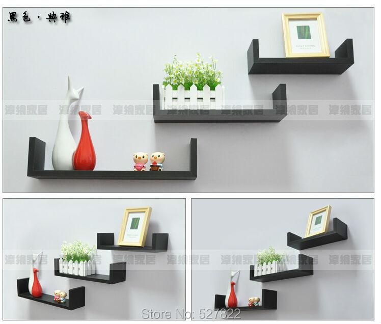 buy popular 96e99 4e9b7 Elegant Floating Shelves U Walnut Brown Finish Set of 3 Shelf Modern Home  Description