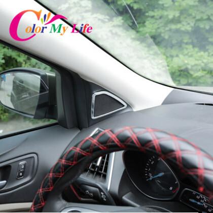 New model interior car horn circle chrome sticker case for - Ford escape interior accessories ...