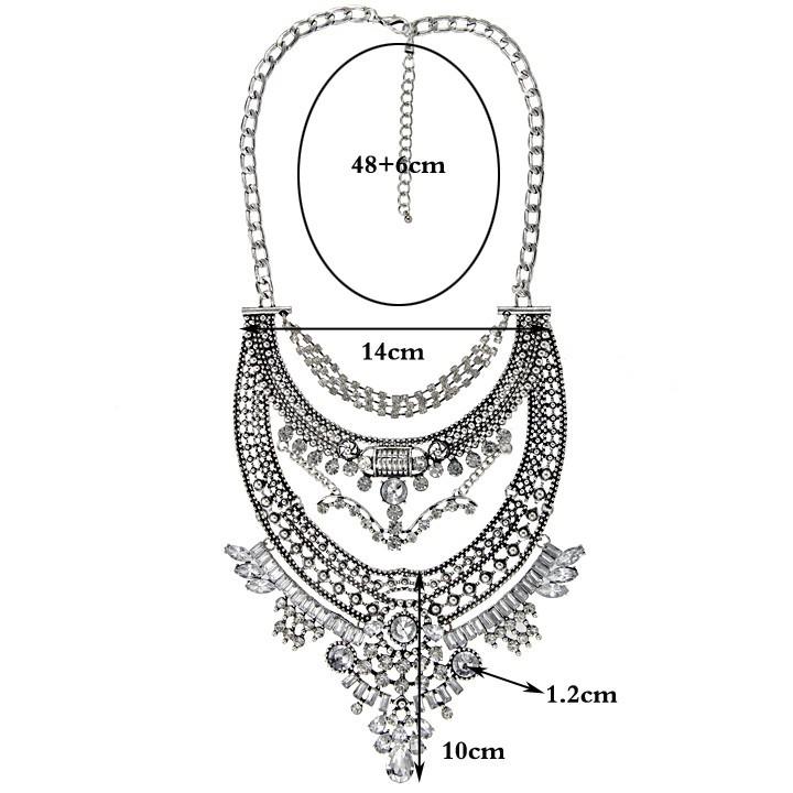 2015 עיצוב חדש כלה חתונה ריינסטון תליון שרשרת באיכות גבוהה וינטג ' שרשרת הצהרה שרשרת לנשים NK921