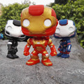 New Funko POP Iron Man 3 Color Marvel Avenger Anime Hot Movie 10cm Cute Action Figure
