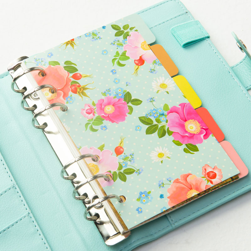 Candy Color Homemade Inner Core Of Notebook Flower Pattern