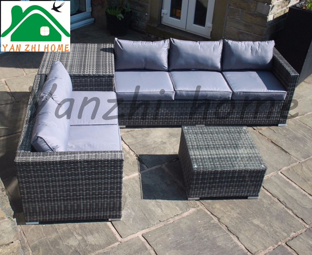 Outdoor Rattan Wicker Cube Sofa Tables Chair Sets Leisure