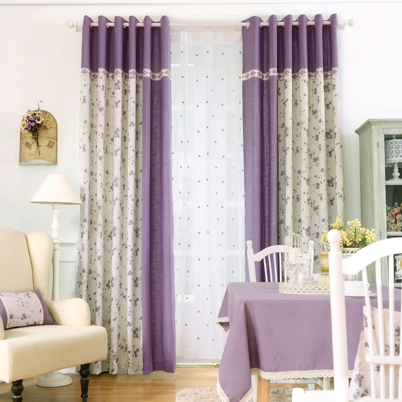 Jacquard Drape Curtains Bedroom Elegant Country Window