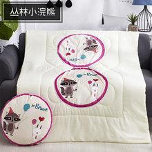 Многофункциональная подушка для дома, многоцветная Подушка с мультипликационным принтом, 110x150 см, Офисная подушка двойного назначения, бес...(Китай)