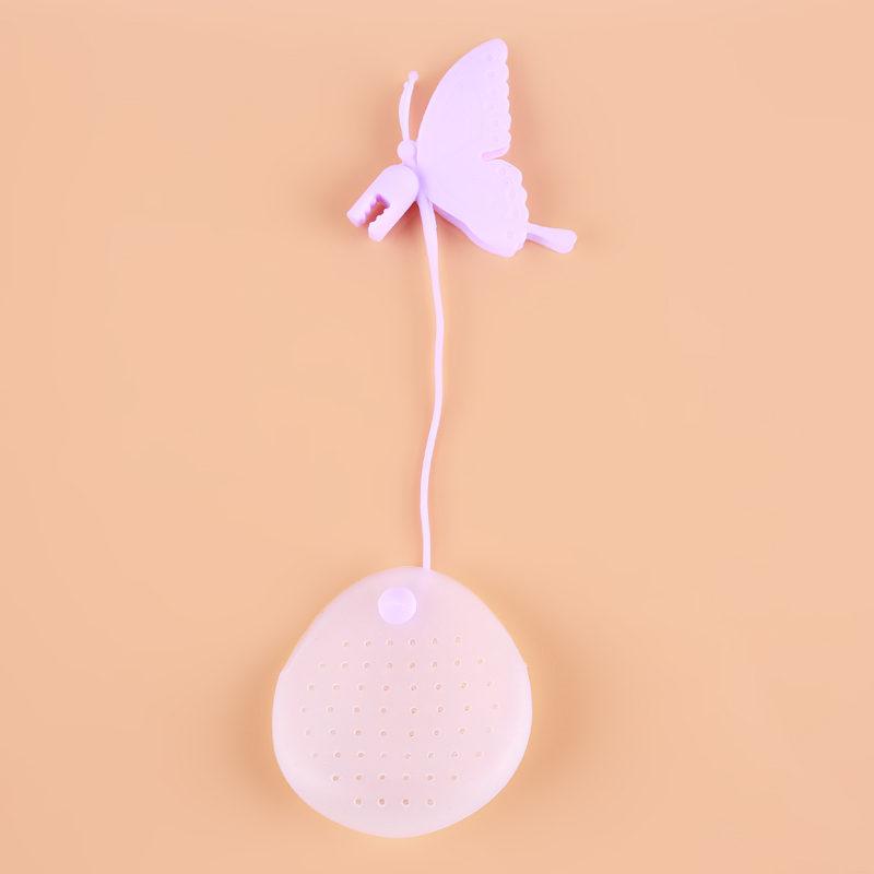 Креативный дизайн для заварки чая с бабочками, чайный пакетик, сетчатый фильтр, сумка производителя, ситечко для кофейных специй, Цветной фи...(Китай)