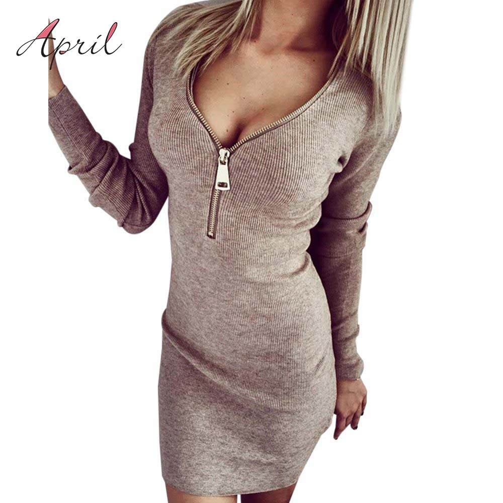 High necked sweater dress
