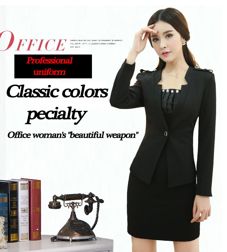 Promoción de uniforme de oficina traje de dama - Compra