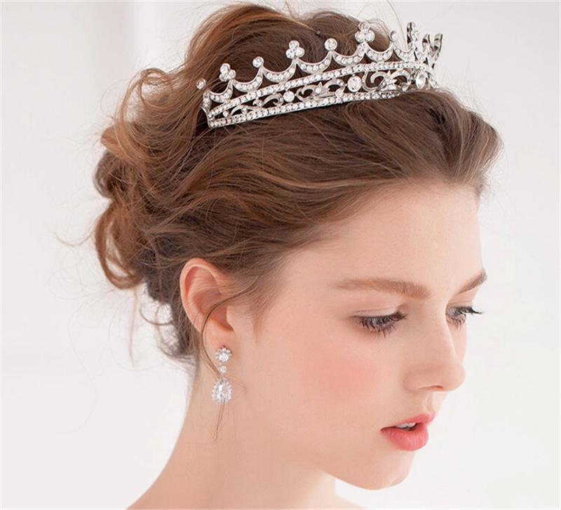 Wedding Hairstyle Crown: Stylish Wedding Hair Crown For A Queen Hairstyle On Your