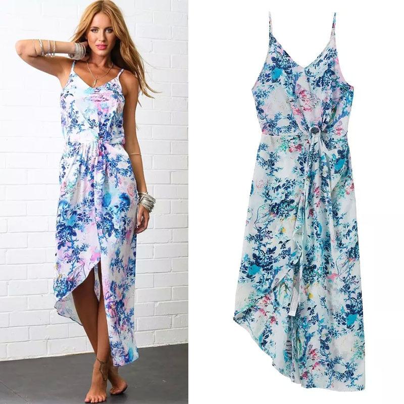 Bohemian Summer Dresses Chiffon 2015 New Arrival Plus Size ...