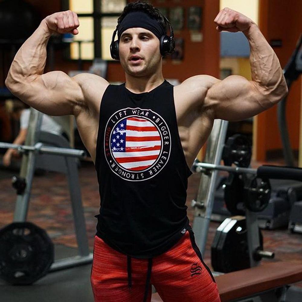 57c2659e81258 Men T-shirt Vest Bodybuilding Tank Top ANIMAL Word Pattern Men ...