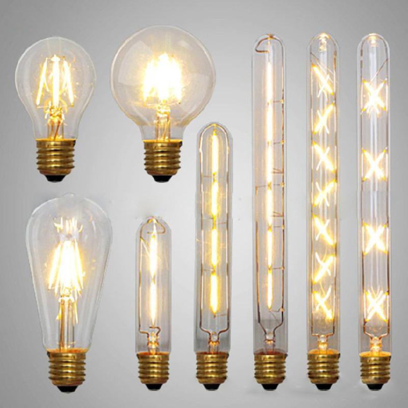 led edison bulb retro bombillas led e27 e14 vintage led filament energy saving lamp 4w 6w 8w. Black Bedroom Furniture Sets. Home Design Ideas