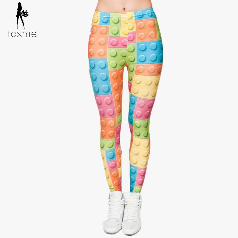 Свободного покроя для дома фитнес леггинсы леопардовый 3D печать lego панк леггинсы брюки спорт леггинсы