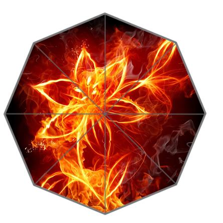 На удивительные огненный цветок красивая пламени печатные зонтики