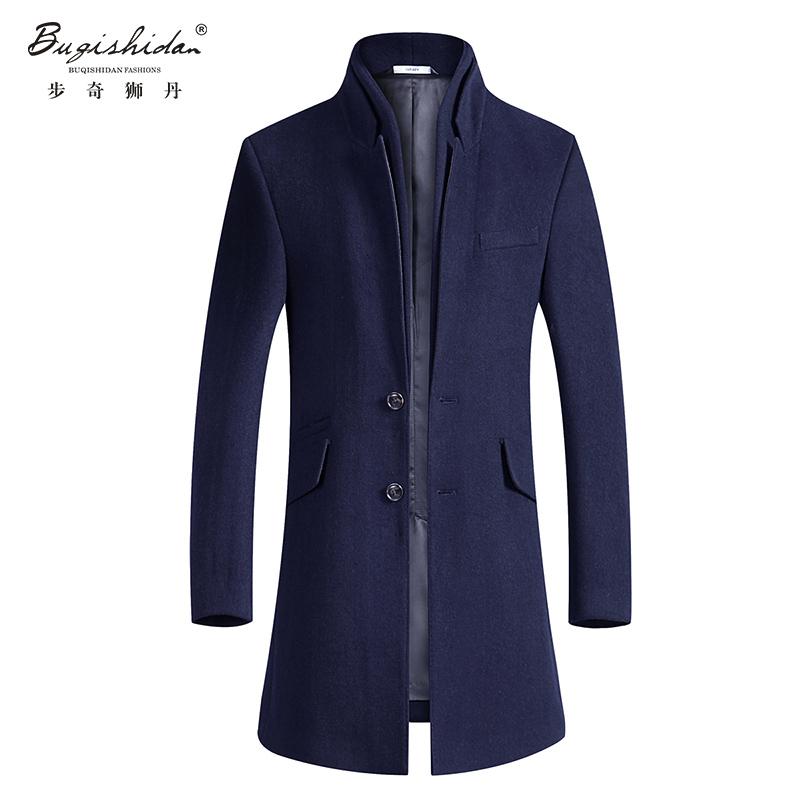 homme winter wool coats windbreaker mens long trench coat. Black Bedroom Furniture Sets. Home Design Ideas