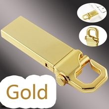 Gold Mini Metal Waterproof Usb Flash Drive 512GB 1TB 2TB Pen Drives Pendrive USB Flash Memory Card Disk On Key 64GB 32GB 16GB
