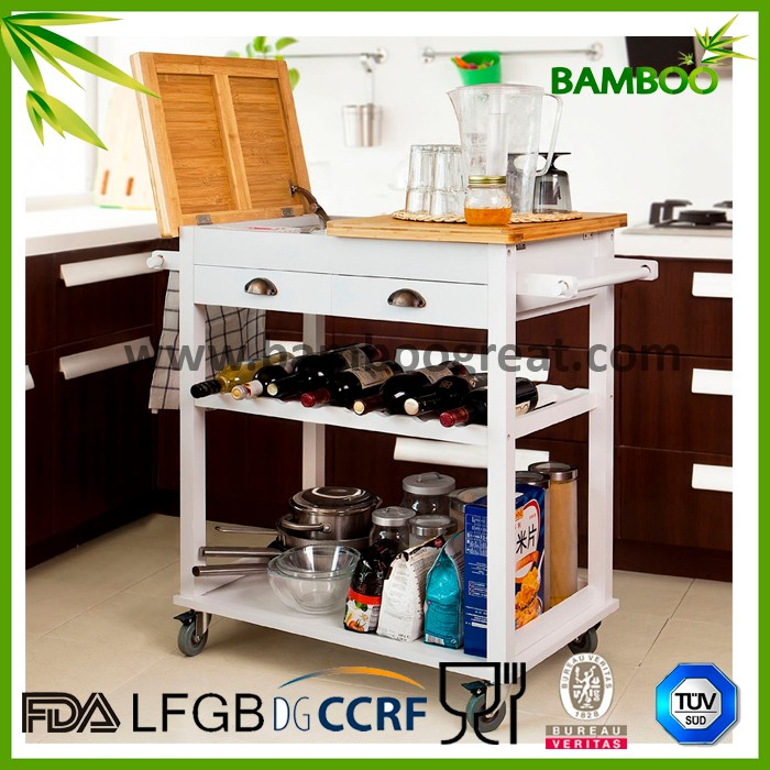 White Modern Kitchen Trolley - Buy Kitchen Serving Trolley Cart,Kitchen  Storage Trolley,Kitchen Trolley Design Product on Alibaba.com