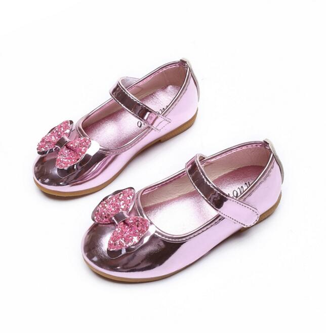 2016 new girl leather sandals children s shoes girls bow leather shoes dance shoes kids sneakers