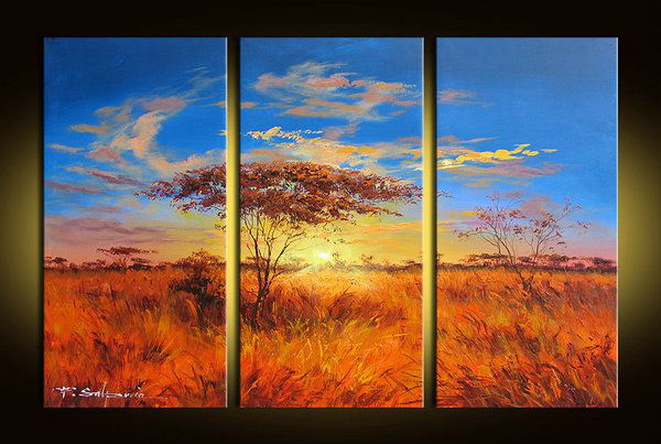 The <font><b>African</b></font> grasslands painting, high-quality abstract art <font><b>home</b></font> <font><b>decor</b></font> wall art style oil painting oil on canvas