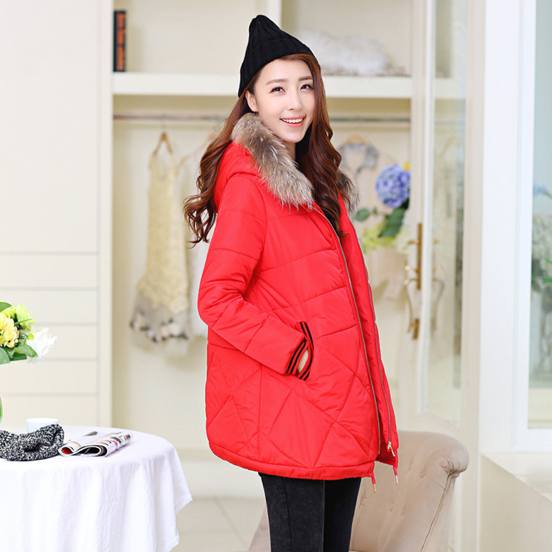 NEW arrived Winter Clothes for pregnant women thick hooded cotton padded jacket for pregnancy Decorative pockets