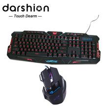 Herní klávesnice s LED podsvícením + herní myš se 7mi tlačítky