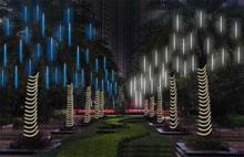 Multi-color 30CM Meteor Shower Rain Tubes AC100-240V LED Christmas Lights Wedding Party Garden Xmas String Light Outdoor