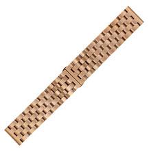 Ремешок для часов из нержавеющей стали 20 мм 22 мм для часов с бабочкой и ремешком на запястье, быстроразъемный браслет с петлей для ремня, чер...(Китай)