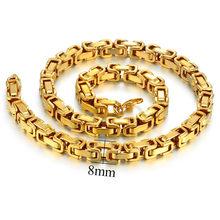 Мужская Золотая цепочка, колье из нержавеющей стали золотистого цвета, византийские цепочки для Мужчин, Ювелирные изделия 2020(Китай)