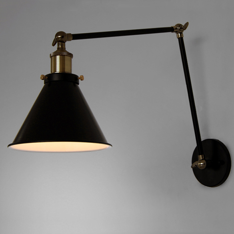 Modern Brief American Style Vintage Iron Wall Lamp Bedside
