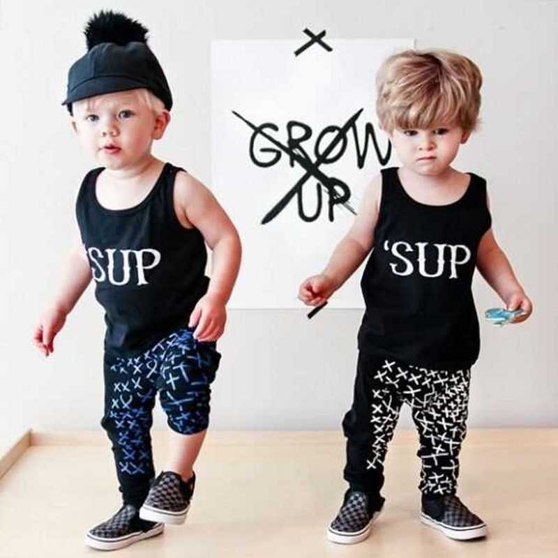 2016 Baby Girls Clothes Letter Printed Infant Clothing Summer Newborn Baby Boys Clothes Next Bebek Giyim Kids Baby Sets
