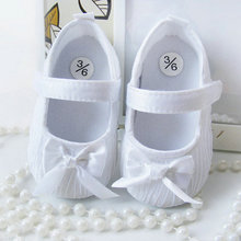 Baby Girls Shoes Toddler Infant Soft Prewalker Anti Slip Shoes Wedding Princess Shoes White Pink