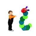 Children Anime Toys Cute Insects Twist the Very Hungry Caterpillars Wooden Blocks Baby Fingers Flexible Blocks