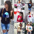 2016 Fashion Loose casual Autumn women sweatshirt Ice Cream 3D print Long sleeve hoodie coat Tops