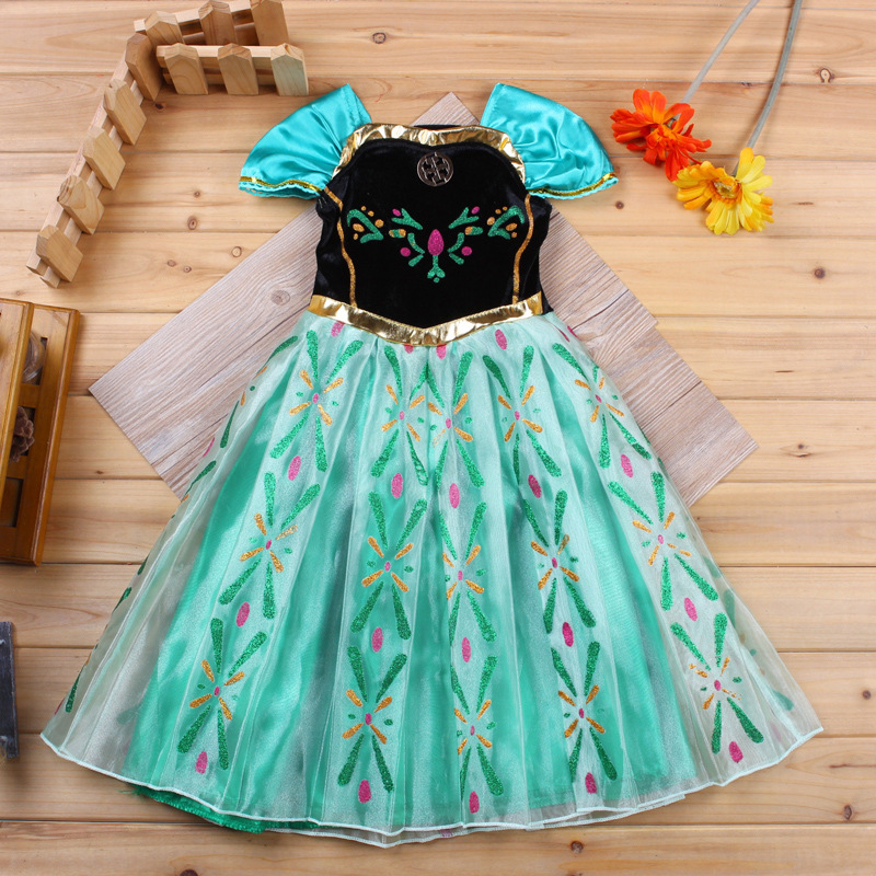 font b Fancy b font Summer 2015 Baby Girl Costume Clothes Dance Party Printing Stitching