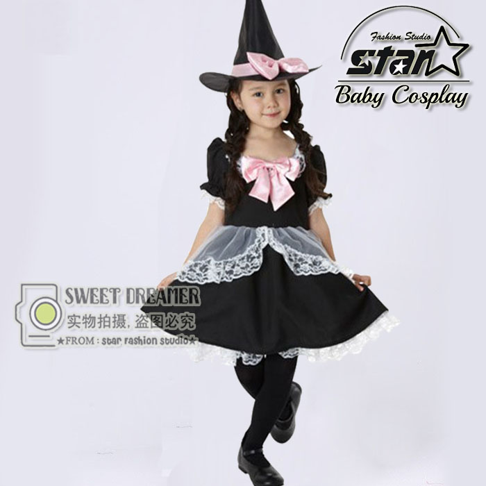 Cute Wizards Costume for Girl Kids Party font b Dresses b font Witch Costume font b