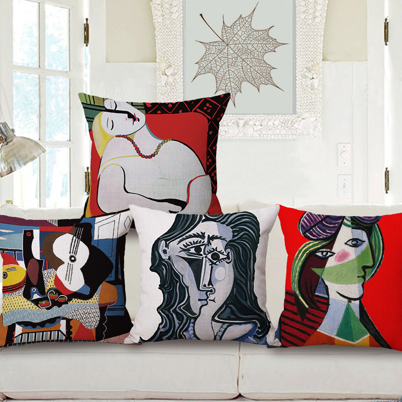 45cm Picasso Painting Pop Art Thick Type Fashion Cotton Linen Throw Pillow Hot Sale 18 Inch New Home Decor Sofa Back Cushion MQQ