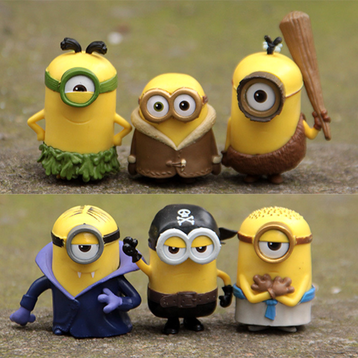 Best Quality 6PCS/SEt kids Toys MINIONS TOYS doll lps anime toy Environmental Protection Harmless Home decoration MataMata 0005