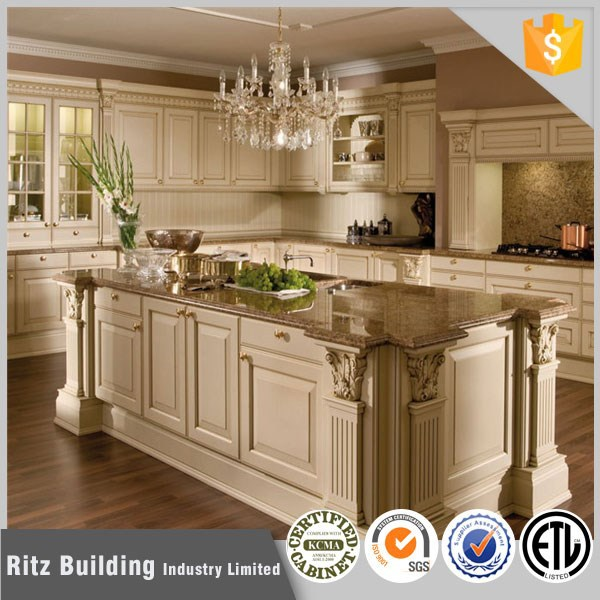 Mediterranean Kitchen Cabinets: Mediterranean Style Solid Wood Kitchen Cabinet Design