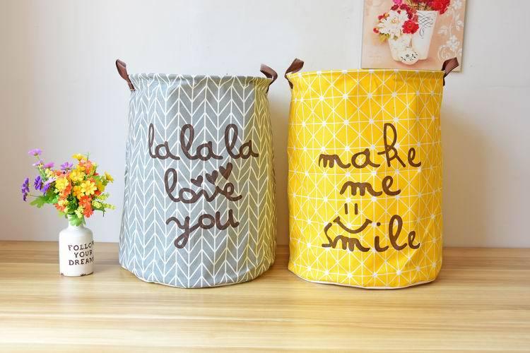 2018 40*50cm Super Large Laundry Bag Cotton Linen Washing