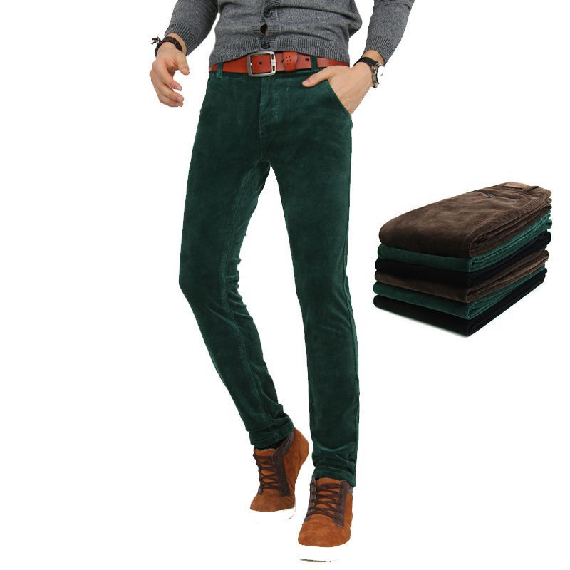 More Details Jacob Cohen Men's Cotton-Stretch Corduroy Pants Details Jacob Cohen pants in stretch corduroy. Tonal stitching and silvertone hardware. Five-pocket style. Pony hair logo patch at back waist. 3D whiskering and fading. Straight-leg fit.