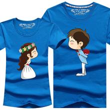 New Cartoon T Shirt 8 Colors Lovers clothes Women s font b Men s b font