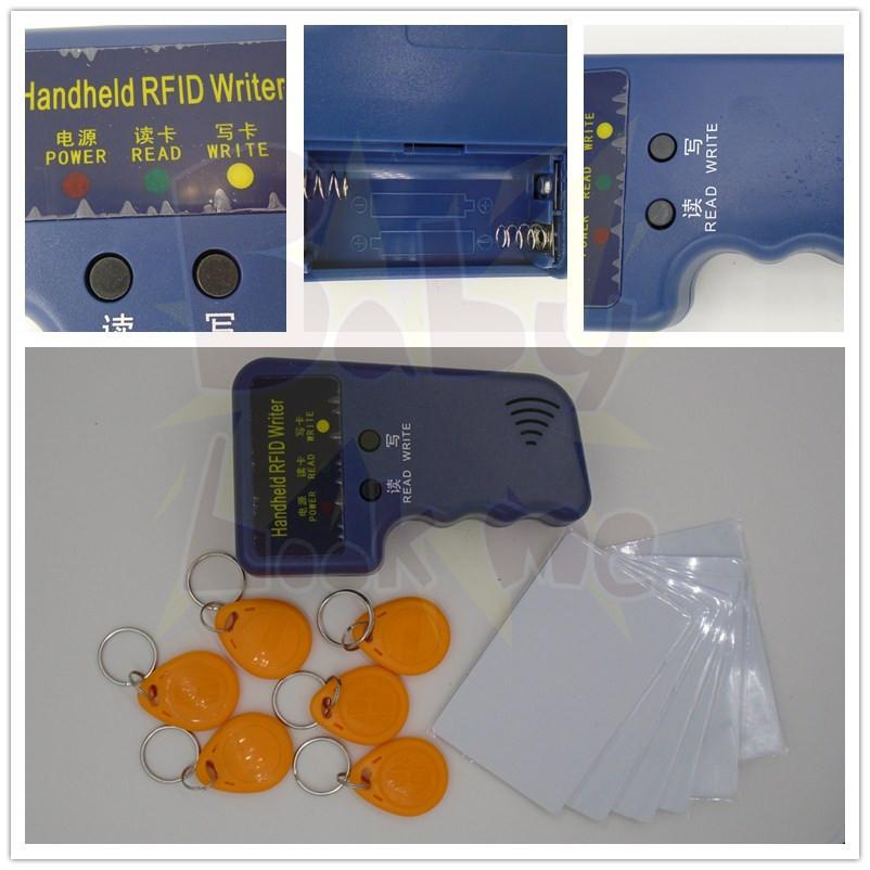 Ручной 125 кГц удостоверение личности копир писатель EM4100 rfid-считыватель дубликаторы с 6 записи Tag + 6 возможностью записи карт паб-клуб квартира парковка
