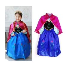 New model Elsa Costume Anna Princess Kids font b Fancy b font Party font b Dress