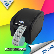 High quality Qr code sticker printer barcode printer Thermal adhesive label printer clothing label printer XP-360B