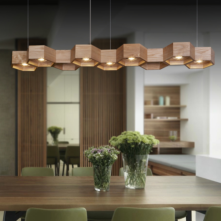"Wood Chandeliers For Dining Room: L70cm/27.6"" Art Creative Lamp Lighting Dining Room Simple"