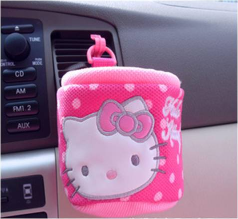 Car styling mobile holder cell holder card holder car - Hello kitty car interior accessories ...