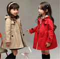 Kids Girls Autumn long sleeved trench Korean fashion children s coat cardigan jacket tide girls windbreaker