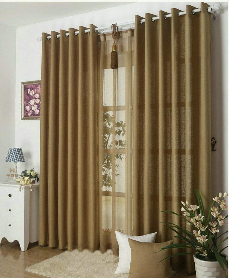 new arrival solid color curtains for living room plain curtains voile 9 colors grey burgundy. Black Bedroom Furniture Sets. Home Design Ideas