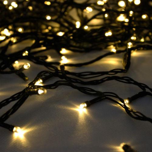 Warm White Solar Power 200 LED String Fairy Light Outdoor