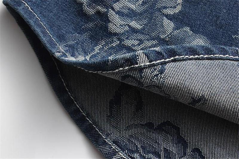 f37893997c6 2019 Wholesale 2016 New Fashion Summer Mens Floral Denim Shirt Plus ...