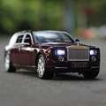 1 24 free shipping Rolls Royce Phantom Alloy Diecast Car Model Pull Back Toy Car model